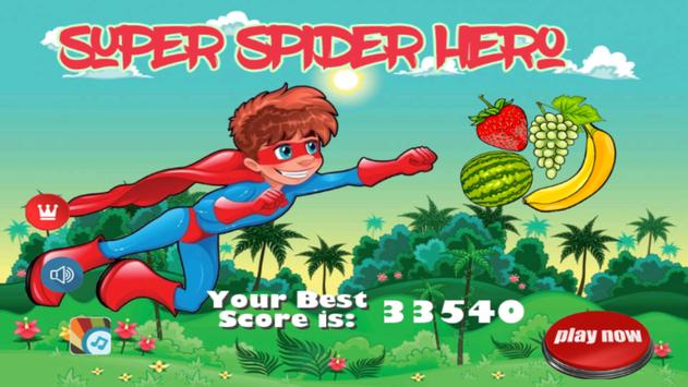 Super Spider Hero Man Flying poster