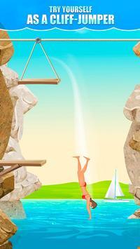 Cliff Flip Diving 2D screenshot 1
