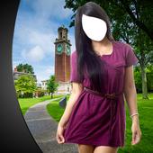 Girl Short Dress Photo Montage icon
