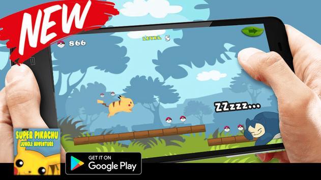 Super Pikachu Jungle Adventure 2017 apk screenshot