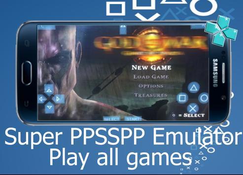 Super PPSP – New Blue PSP roms Emulator apk screenshot