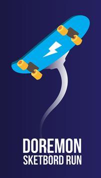 Skateboard Doremon poster