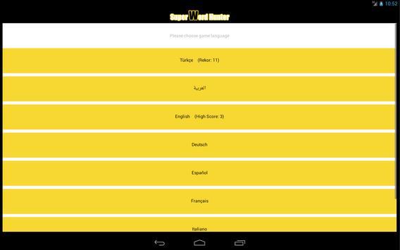 Super Word Hunter apk screenshot