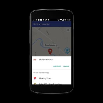 Send my Location apk screenshot
