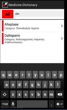 Medicine Dictionary Free screenshot 2