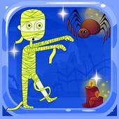 Mummy halloween run icon