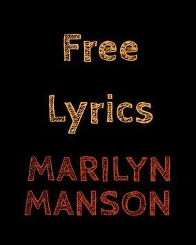Free Lyrics for Marilyn Manson poster
