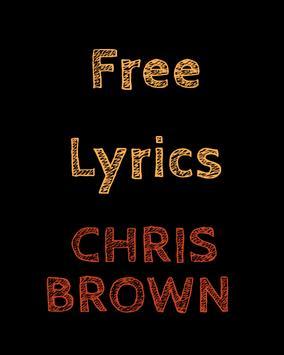 Free Lyrics for Chris Brown poster