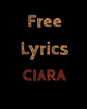 Free Lyrics for Ciara poster