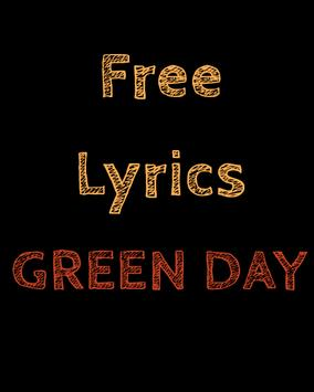 Free Lyrics for Green Day poster