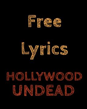Lyrics for Hollywood Undead poster