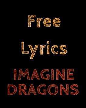 Lyrics for Imagine Dragons poster