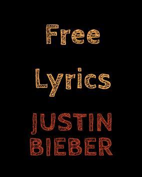 Free Lyrics for Justin Bieber poster