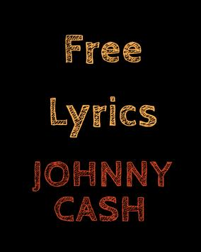 Free Lyrics for Johnny Cash poster