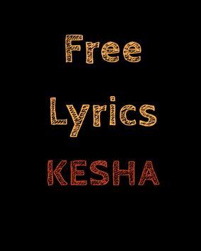 Free Lyrics for KE$HA (Kesha) poster
