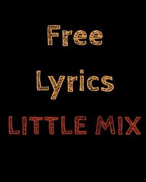 Free Lyrics for Little Mix poster