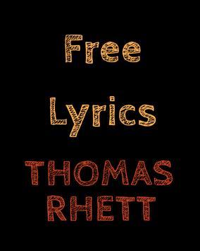 Free Lyrics for Thomas Rhett poster