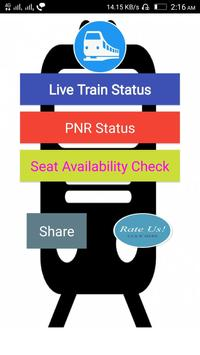 Live Train Status and PNR Check 2018 poster