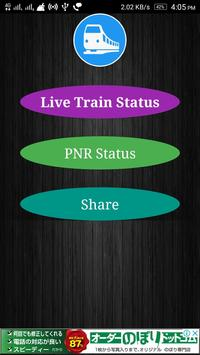 Live Train Status and PNR Check poster