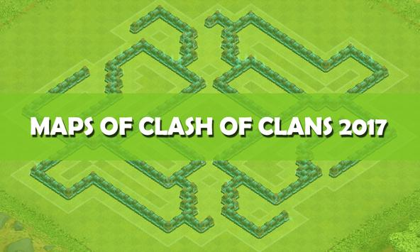Maps of Clash of Clans 2017 poster