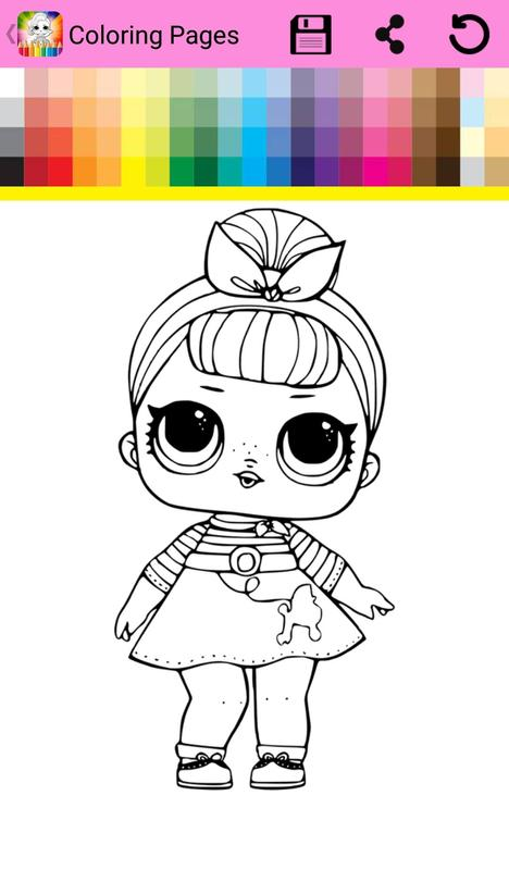Surprise Lol Dolls Coloring Book