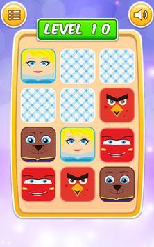 Memory Cartoon Game for Kids screenshot 7