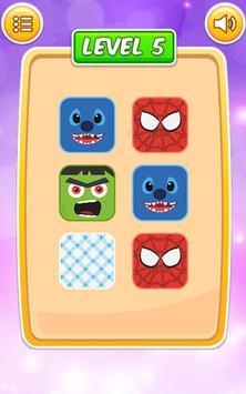 Memory Cartoon Game for Kids screenshot 16