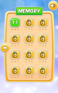 Memory Cartoon Game for Kids screenshot 1