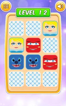 Memory Cartoon Game for Kids screenshot 21