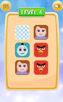 Memory Cartoon Game for Kids screenshot 2