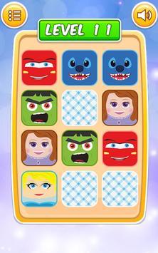 Memory Cartoon Game for Kids screenshot 3
