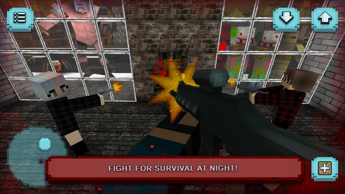 Scary craft five nights of survival horror games apk for Zombie crafting survival games