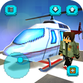 Helicopter Craft: Flying & Crafting Game 2018 icon