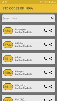 STD Codes of India apk screenshot