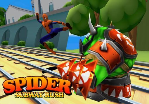 Subway Spider-man Surf poster