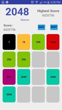 2048 Reverse screenshot 1