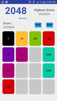 2048 Reverse screenshot 2