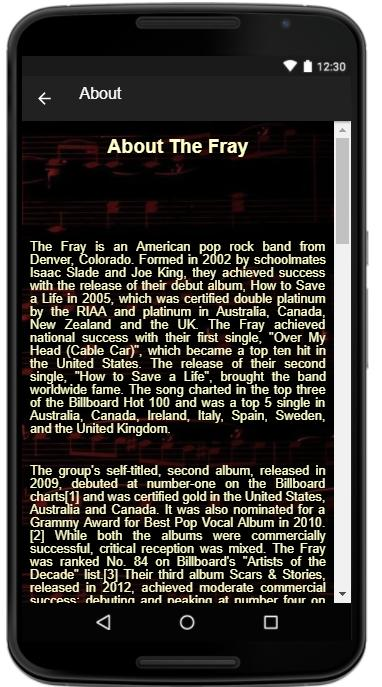 The Fray Songs Lyrics For Android Apk Download