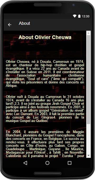 CHEUWA TÉLÉCHARGER OLIVIER