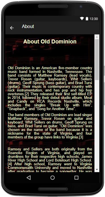 Old Dominion - (Songs+Lyrics) for Android - APK Download