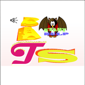bats eating fruit icon