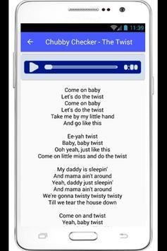 Chubby Checker Lyrics Changes poster