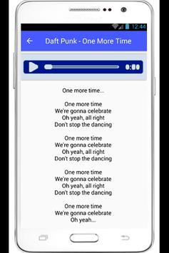 Daft Punk Lyrics Digital Love apk screenshot