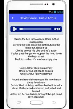 David Bowie Lyrics Heroes poster
