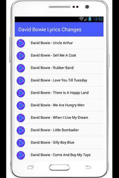 David Bowie Lyrics Heroes apk screenshot