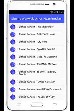 Dionne Warwick Heartbreaker apk screenshot
