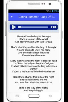 Donna Summer Hot Stuff Lyrics poster
