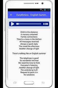 Eurythmics Sweet Dreams Lyrics poster