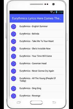 Eurythmics Sweet Dreams Lyrics apk screenshot