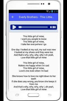 Everly Brothers Lyrics Dream poster